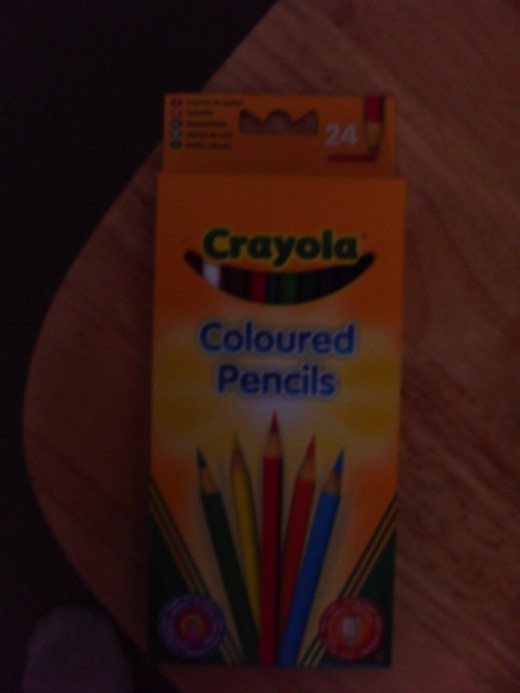Crayola 24 pack color pencils, I buy loads of these a year, as I go through them like paper.