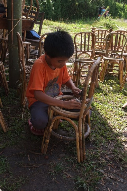 Children skip playtime to learn trade skills to support their families in poor nations.