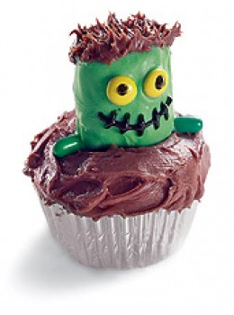 Frankenstein Cupcake  Visit: www.FamilyFun.go.com for directions