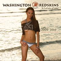 Redskin calendar girl