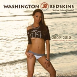 Redskin calendar girl