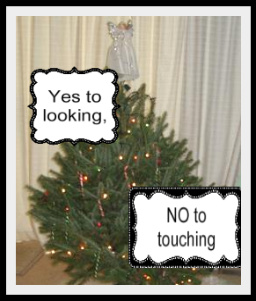 "How to say to a child ""Don't touch the Christmas tree."""