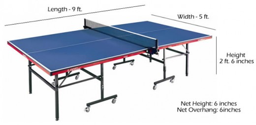 Xvon image ping pong table dimensions standard - What is the size of a ping pong table ...