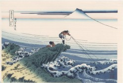 Limitations - Woodblock print by Hokusai.