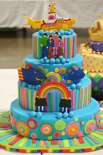 the beatles yellow submarine cake