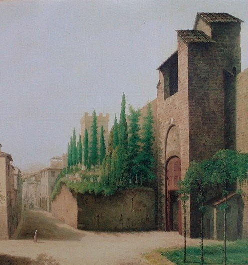 Watercolour of the gate