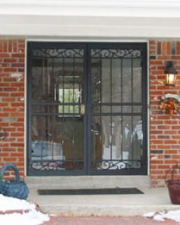Security doors wrought iron security door cost for Security doors prices