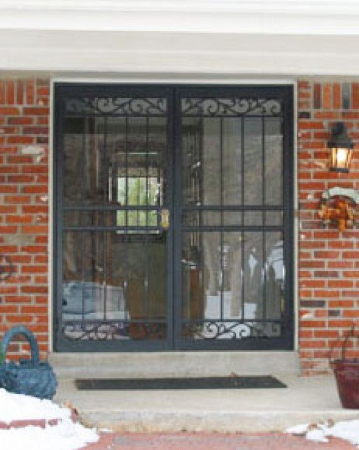 Wrought iron security doors may be required in high crime areas.