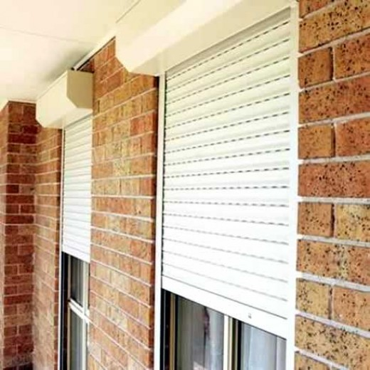Roller shutters are good for night security and they block unwanted light.