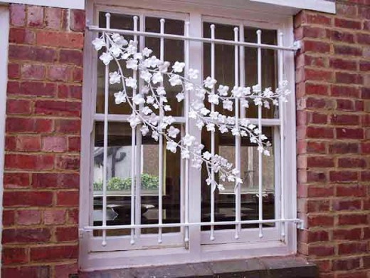 Window security bars can be decorative or artisitc.