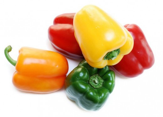 For wonderful flavor without the heat, use colorful bell peppers.