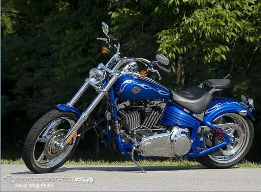 Blue Harley Davidson Bike