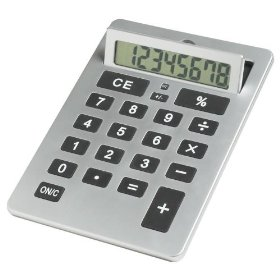 This Calculator is as large as a sheet of notebook paper!