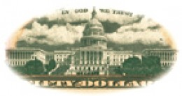The US Capitol on the back of the Ulysses S. Grant $50 bill