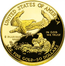 American Gold Eagle Proof Coin Obverse