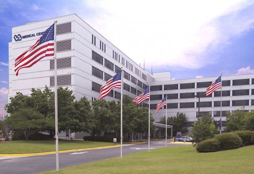 VA Medical Center in Downtown Augusta (public domain).