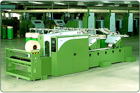 This is a machine which feeds a combing machine with Sheets of Slivers.