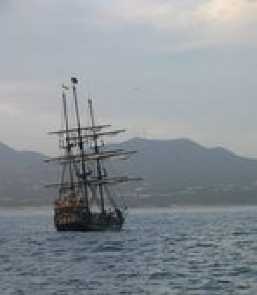 pirate ships were independent societies with laws and regulations to ensure order and fair distribution of spoils.