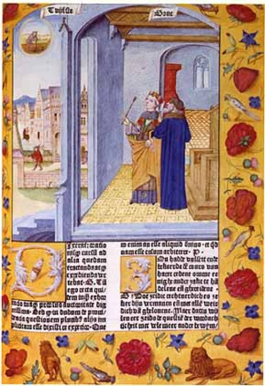 """An image from Boethius's """"Consolation of Philosophy"""""""