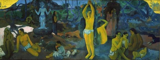 Where do we come from? What are we? Where are we going? Painting by Paul Gauguin