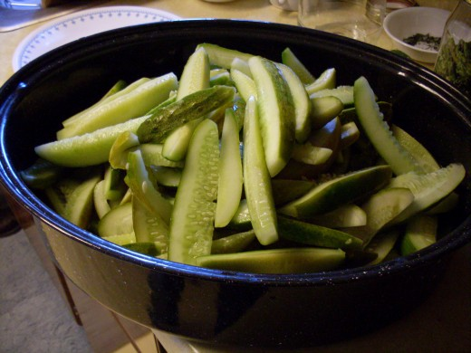 Set them in a large container (in this case, a roasting pan) which will be easy to grab small handfuls from.