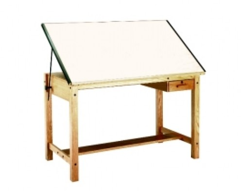Diy wood design woodworking plans for a drafting table for Blueprint plan table