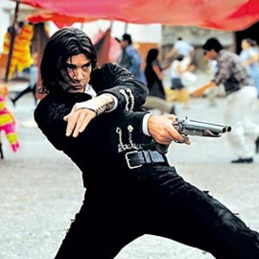 Antonio Banderas comes up as El Mariachi...