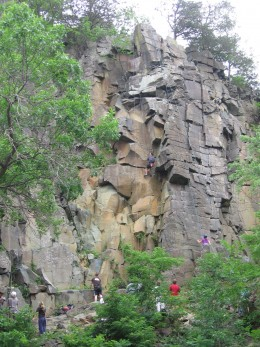 Rock Climbers on Lower Section