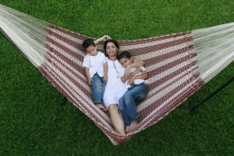 Family fun in a King size hammock!