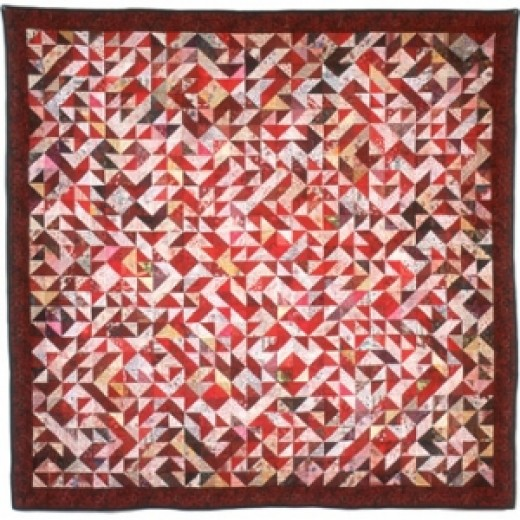 "Beverly St. Clair is a practicing psychiatrist that has combined DNA with the hobby of quilting. The ""Human red cone pigment gene"" quilt is featured on the cover of December 2008 Nature Genetics.    Her quilts are have strong colors and a seemingly t"
