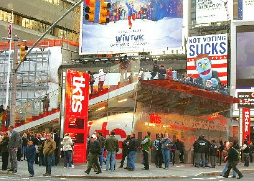 The TKTS Booth in Times Square