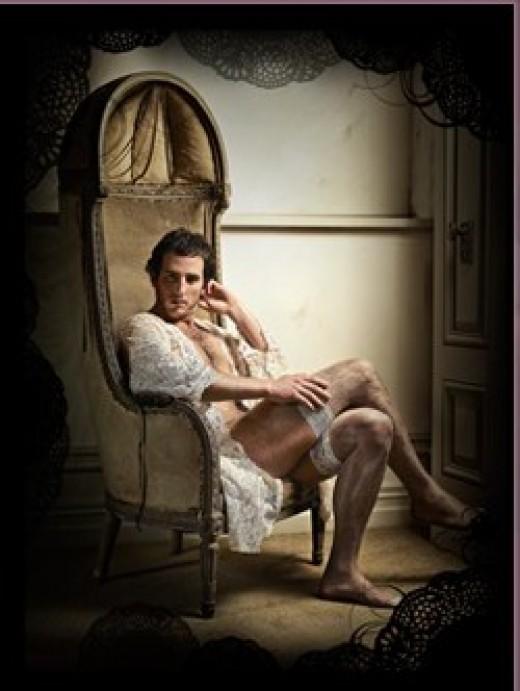 Alone in lingerie...