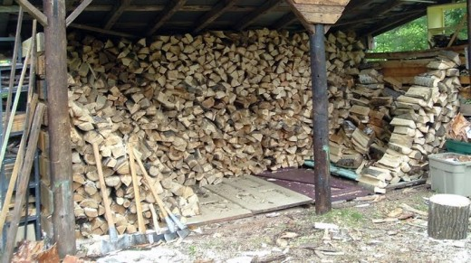 a full woodshed is like money in the bank.