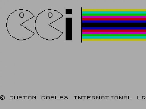 The bizarre logo of Custom Cables International