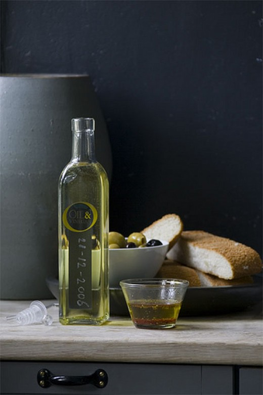 Extra virgin olive oil is one of the staple foods of the Mediterranean Diet. Photo by foddistablog.