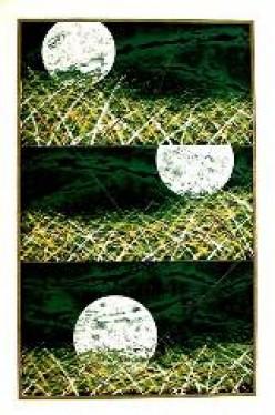 Three Moons - Woodblock by Hasegawa