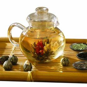 Primula Flowering Glass Tea Set