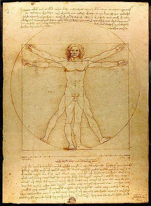 Leonardo da Vinci's Vitruvian Man. photo from: http://en.wikipedia.org/wiki/Vitruvian_Man