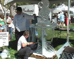 Ice carving Riverbend Park Co.