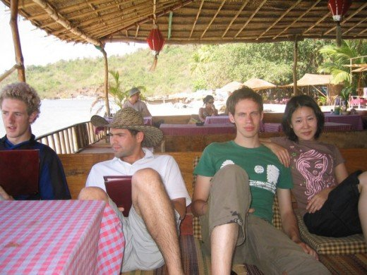 Foreign tourists in Goa