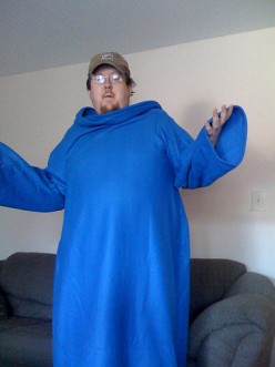 Wow I am so glad I bought the Snuggie.  Picture courtesy of Flikr