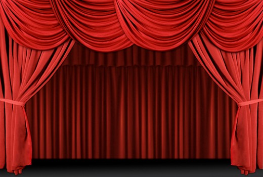 Red Curtains Theater Velvet Stock Photos, Red Curtains Theater