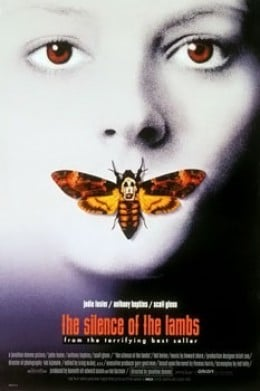"""""""The Silence of the Lambs"""" promotional poster"""
