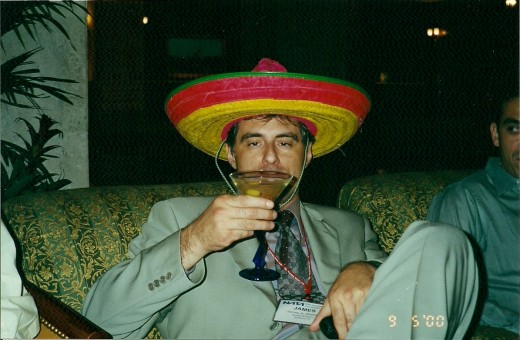 MODEL WAS INSTRUCTED TO ACT LIKE HE WAS DRINKING (SOMBRERO OPTIONAL)