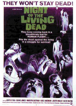 """""""Night of the Living Dead"""" promotional poster"""