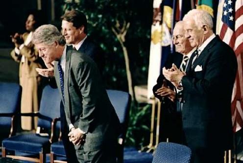 President Bill Clinton After Signing NAFTA