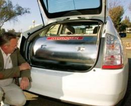 Hydrogen gas storage tank.