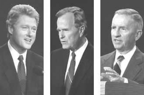 Three-way Race -- Bill Clinton, George H.W. Bush, Ross Perot