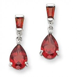 Garnet dangle earrings