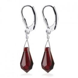 Garnet teardrop dangle earrings